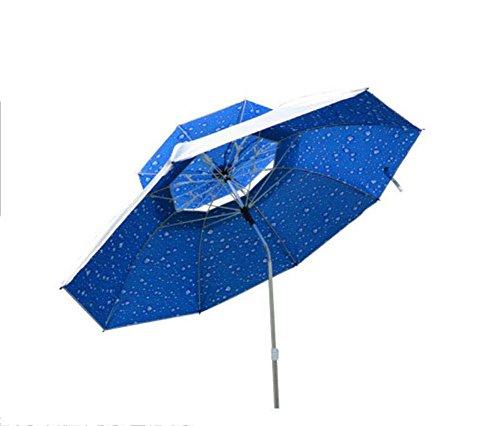 Ronghuafugui Parasoles de paraguas para pesca al aire libre, protección UV, ajuste de ángulos múltiples, toldo portátil plegable, varilla de aluminio, sombrilla de playa de ocio con bolsa de transport