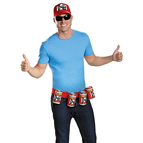 Kostüm Simpsons Duffman - The Simpsons Duffman Costume Kit Adult One Size