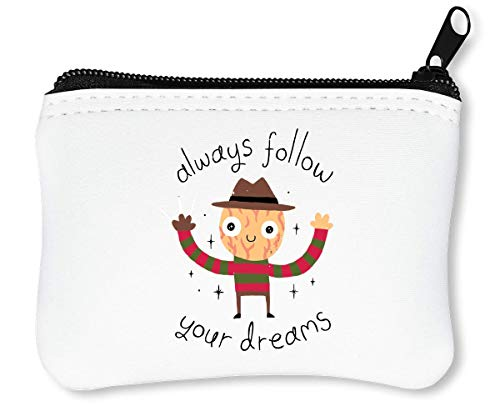Freddy Krueger Always Follow Your Dreams Billetera con Cremallera Monedero Caratera
