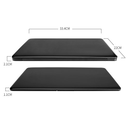 YUNTAB Z140C laptop Windows 10 Ultra slim Tablet 14 Zoll Intel Z8350 Quad-core 1.92 GHz 2 GB RAM 32 GB - 1366*768 Kamera 2 Mps Bluetooth 4.0 HDMI Mit Tastatur Holster einer Schwarz - 4
