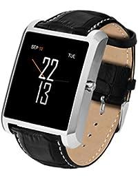 J.W. Bluetooth Smart Uhr, Blutdruck Pulsmesser Fitness Tracker Wasserdicht Sportmodus Wearable Smartwatch Für IOS Android, Schwarz