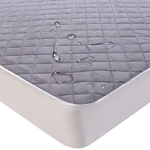 Keafols coprimaterasso impermeabile 160 x 200 cm proteggi materasso traspirante coprimaterasso anallergico antiacari copri materassi matrimoniale