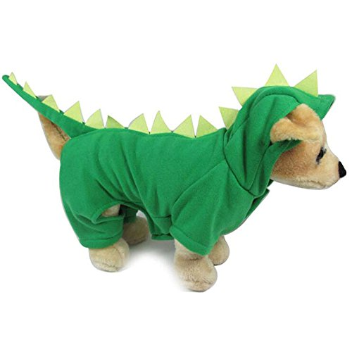 hysung Pet Reinigungstuch Hundemantel Hoody Jacke Jumpsuit NEW YEAR Weihnachten Halloween Dinosaurier Kostüm Kleidung Warm weichen Tuch für kleine (Halloween Bewertungen Kostüme)