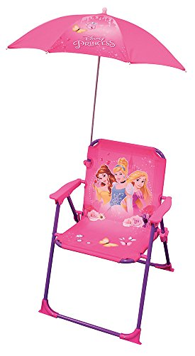 FUN HOUSE Princesses Chaise avec Parasol Fille, Rose