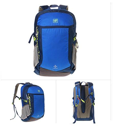 zaino trekking Utdoor zaino Sport alpinismo sacchetto di Bin tracolla escursionismo sacchetto esterno Attrezzature Uomini E Donne Borsa a tracolla 28L Zaini da escursionismo ( Colore : Arancia ) Blu
