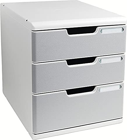 Exacompta 325041D Bürobox A4, licht-/steingrau