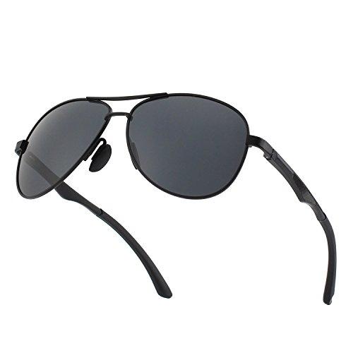 CGID Premium polarisierte spiegelnde Pilotensonnenbrille aus Aluminium-Magnesium-Legierung, UV400 Schutz, gefederte Scharniere, für Frauen und Männer GA61