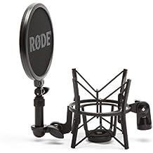 Rade SM6 - Soporte de micrófono con filtro anti pop integrado, negro