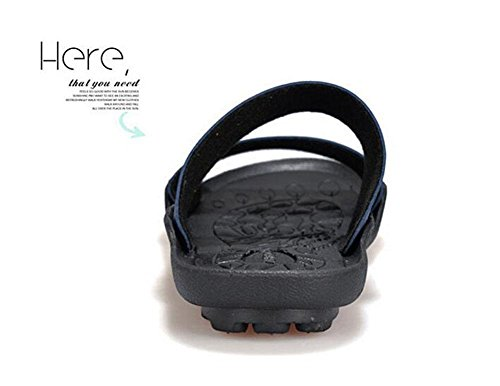 Hommes Chaussures à Talons Ouverts Chaussons DéTé Chaussures De Plage AntidéRapantes Chaussures De Piscine Chaussures En Cuir PersonnaliséEs Chaussures De Sport à La Mode Blue