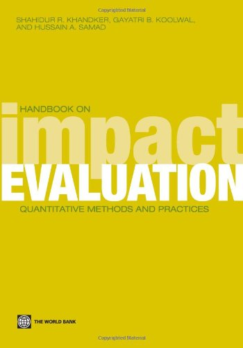 Handbook on Impact Evaluation: Quantitative Methods and Practices