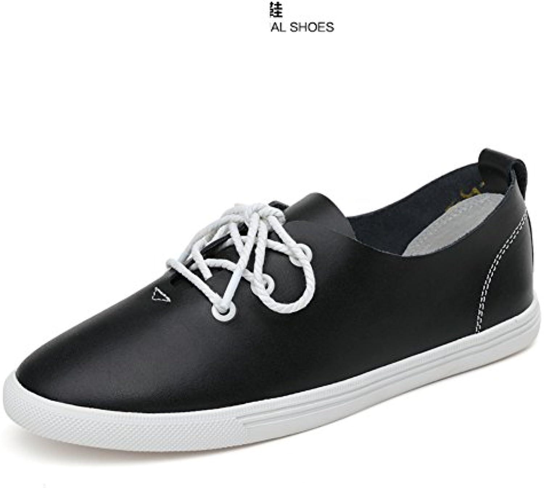 Primavera Zapatos De Cuero Blanco,Zapatos Planos De Las Mujeres,Blanco Zapatos Casuales,Zapatos De Cuero Con Suela...