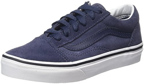 Vans - K Old Skool, Sneakers Basse, Infantile Blu (Suede parisian night)
