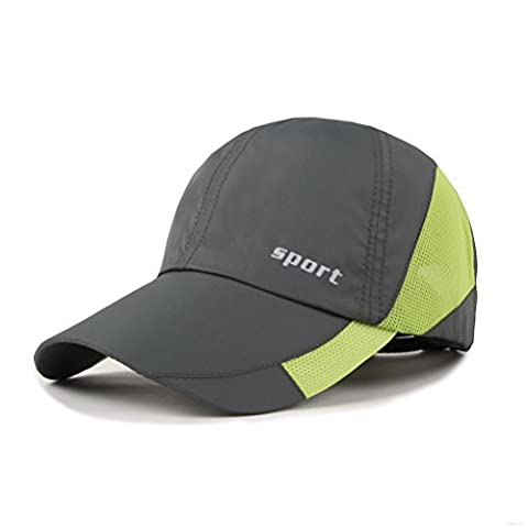 Light Weight Breathable Run Baseball Hat Outdoor Quick Dry Sport cap (Deep Gray)