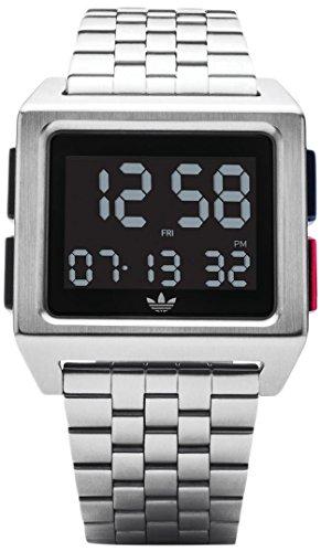 Adidas Herren Digital Uhr mit Edelstahl Armband Z01-2924-00