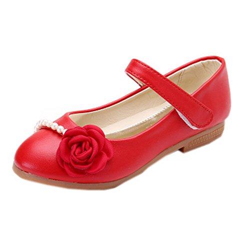 Vokamara Niña Ceremonia Zapatos Flores Merceditas