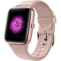 GRDE Smartwatch Mujer, Reloj Inteligente Hombre con Monitoreo del (Pulsómetro/Cardíaco/Sueño) Reloj 5ATM Impermeable con Podómetro Caloría GPS, Relojes con Despertador y Cronómetro para iPhone Xiaomi