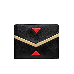Da Milano MW-0049-15 Black & Gold Leather Mens Wallet