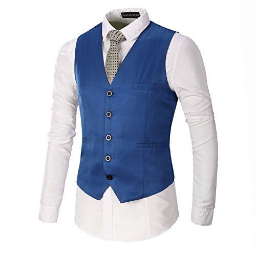 AYG Herren Gilet Weste Hochzeit Veste(navy blue,3XL) (Herren Weste Grün)