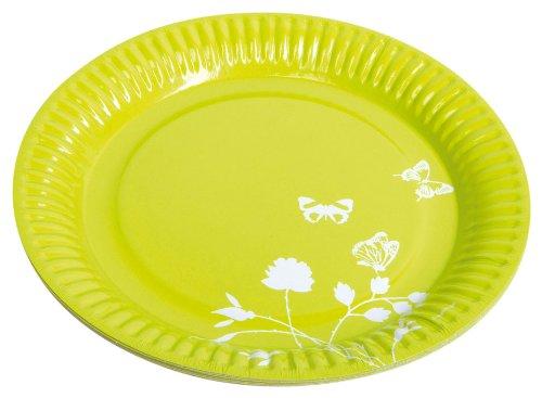 partner-jouet-a1100113-lote-de-vasos-8-unidades-papel-23-cm-diseno-de-flores-color-verde