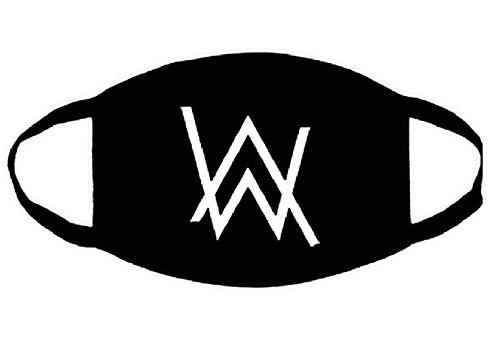 Anti-Staub-Maske Atmungsaktive Abdeckung Alan & Walker Logo Cosplay - Berühmten Schwarzen Kostüm
