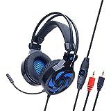 Immersives Komforterlebnis, Spielkopfhörer Für Ps4, Komfortable Geräuschreduzierung Kristallklarheit 3,5-Mm-Kopfhörer Mit Mikrofon - Schwarz Kopfhörer