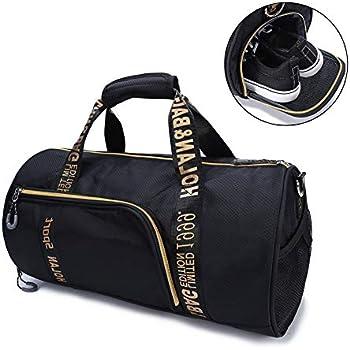 Bolsa de Viaje de Gran Capacidad Bolsa de Deporte Peso Ligero portátil con Compartimento para Zapatos Deportes Bolsa de Viaje Equipaje para Fitness ...