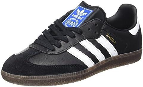 Adidas Herren Samba Sneakers, Schwarz (Core Black/Footwear White/gum5), 45 1/3 EU