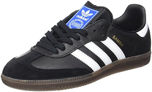 adidas Samba 019000 Unisex-Erwachsene Low-Top SneakerSchwarz (black 1/white/gum5)44