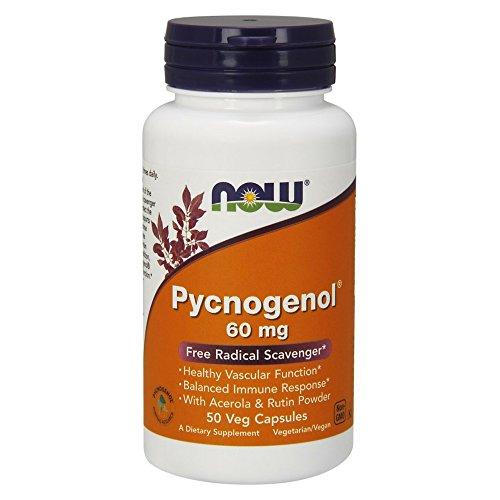 Now Foods, Pycnogenol, 60 mg, 50 Vcaps