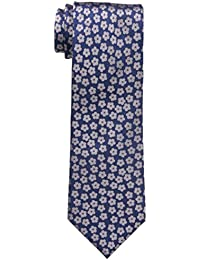 Haggar Men's Floral Tie, Navy, One Size