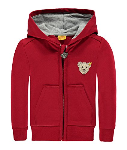 Steiff Baby-Jungen Strickjacke Sweatjacke 1/1 Arm, Rot (Tango Red 2016), 74