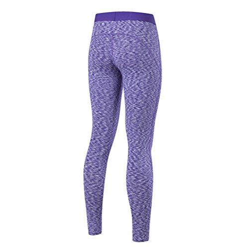 Nanxson(TM) Pantalon De Sport Extensible Compression Pour Fitness Jogging Yoga Gym Pour Femmes YDKW0019 Violet