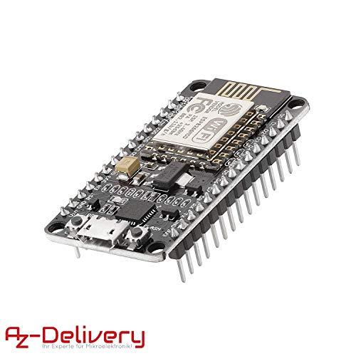AZDelivery Módulo WiFi NodeMCU Lua Amica V2 ESP8266 ESP-12E WiFi Placa de Desarrollo con CP2102 para Arduino con eBook incluido