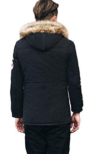 Ghope Homme Manteau Hiver Doublure Coton Epais Capuche Type Casual Vste épaisse Parka Outwear Blazer Nior