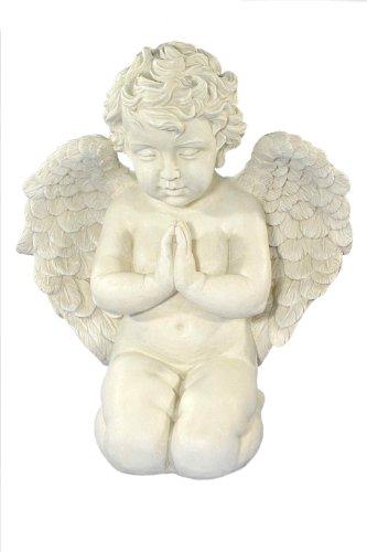 floristikvergleich.de Casa Collection 07675 Gartenfigur Engel kniend und betend, groß, Höhe 52 cm