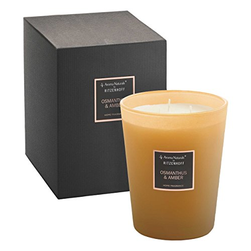 Preisvergleich Produktbild RITZENHOFF Aroma Naturals Selection Duftkerze,  Osmanthus & Amber,  3 Dochte