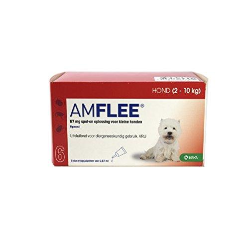 Amflee Spot-on Hund - 67 mg - 6 Pipetten