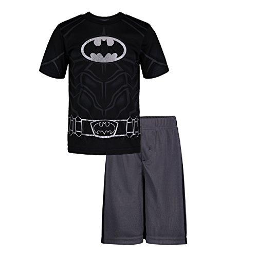 DC Comics Batman Kleinkinder Jungen Athletic Performance T-Shirt & Maschen Shorts Set, Schwarz 5-6 Jahre -