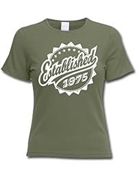 Established 1975 - Cadeau d'anniversaire 41 ans T-Shirt Femme