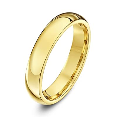 Theia Unisex Super Heavy Weight Court Shape 9 ct Gold Wedding Ring