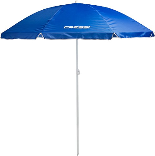 Cressi XVA810020 - Sombrilla Parasol Playa/Terraza/Jardín/Tiempo Libre, sin Bolsa, Color Azul