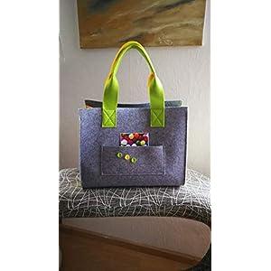 Große Einkaufstasche, Schultertasche, Handtasche, Filz Tasche