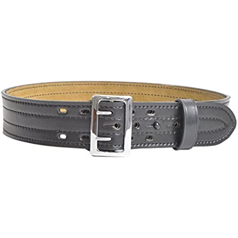 Safariland 87 Duty Belt Plain Black, Chrome Buckle, Size 32