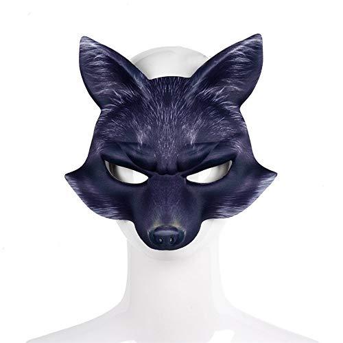 Halloween Karneval Party White Fox Maske niedlichen Tier realistische Maske halbes Gesicht Maskerade Cosplay - Niedlichen Kein Gesicht Kostüm