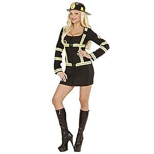 WIDMANN 06602?Adultos Disfraz Bombero, Vestido, Color Negro, tamaño M