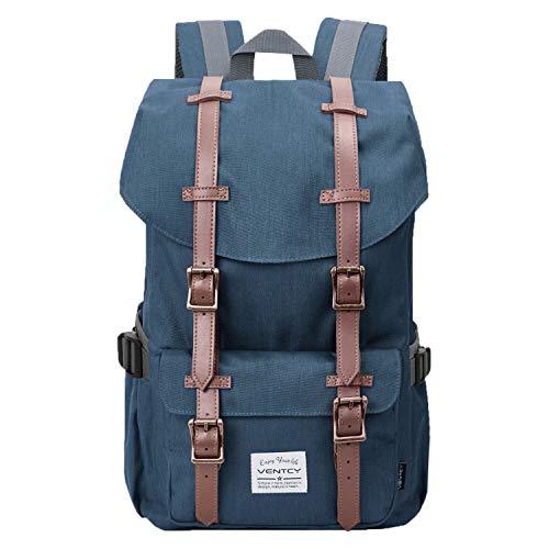 VENTCY Studenten Rucksack Uni Rucksack Herren Damen Backpack Großer 15,6 Zoll Notebook Rucksack Laptop Daypack Wasserabweisend für Freizeit Outdoor Reise 23L