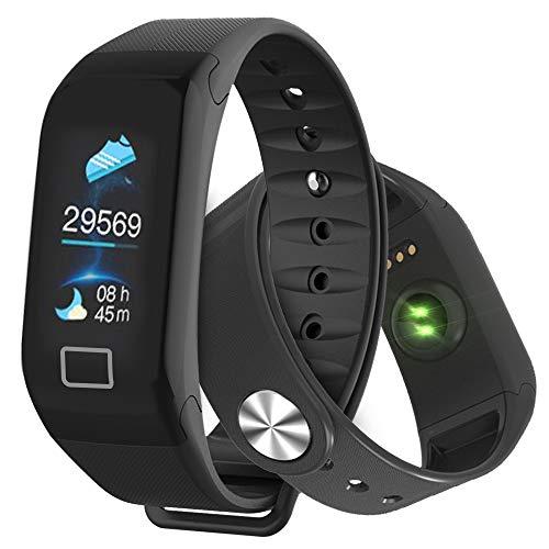 AYAMAYA Fitness Armband, Fitness Tracker Wasserdicht IP67 Aktivitätstracker mit Herzfrequenz Schrittzähler Schlafmonitor und Kalorienzähler, Schrittzähler Uhr Damen Herren mit iPhone Android Handy