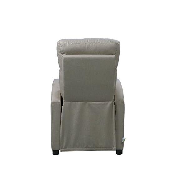 Legno 65 x 88.5 x 101 cm Beige Italian Concept 72 Amabel A Poltrona Relax