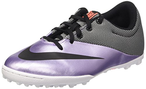 Nike Jr Mercurialx Pro Tf, Chaussures de Football Fille Morado / noir / jaune (Urban Lilac / Black-Bright Mango)