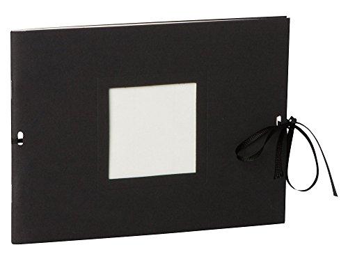 Semikolon (351543) Fotoheft Photo Booklet Landscape black (schwarz)-Fotoalbum mit 20 cremefarbenem...